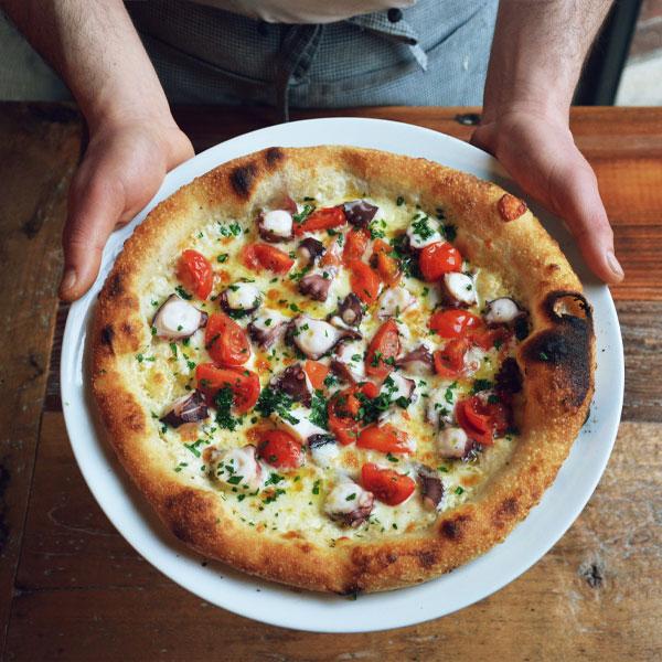 pizza polpo abbrustolito